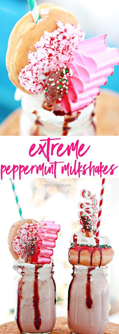 Extreme Peppermint Milkshakes