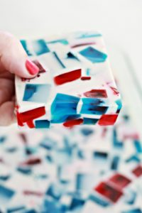 Red White and Blue Stained Glass Jell-o