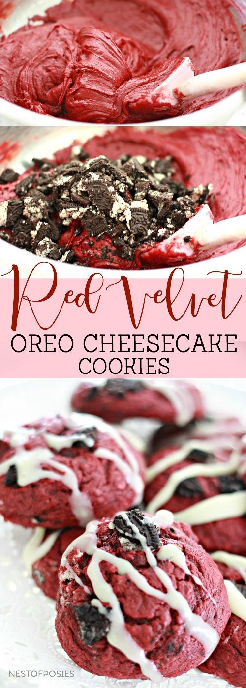 Red Velvet Oreo Cheesecake Cookies