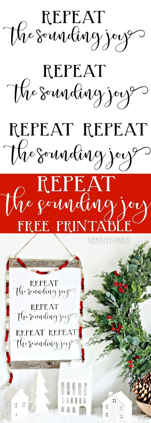 photo regarding Printable Christmas Stories called Repeat the Sounding Happiness Xmas Printable