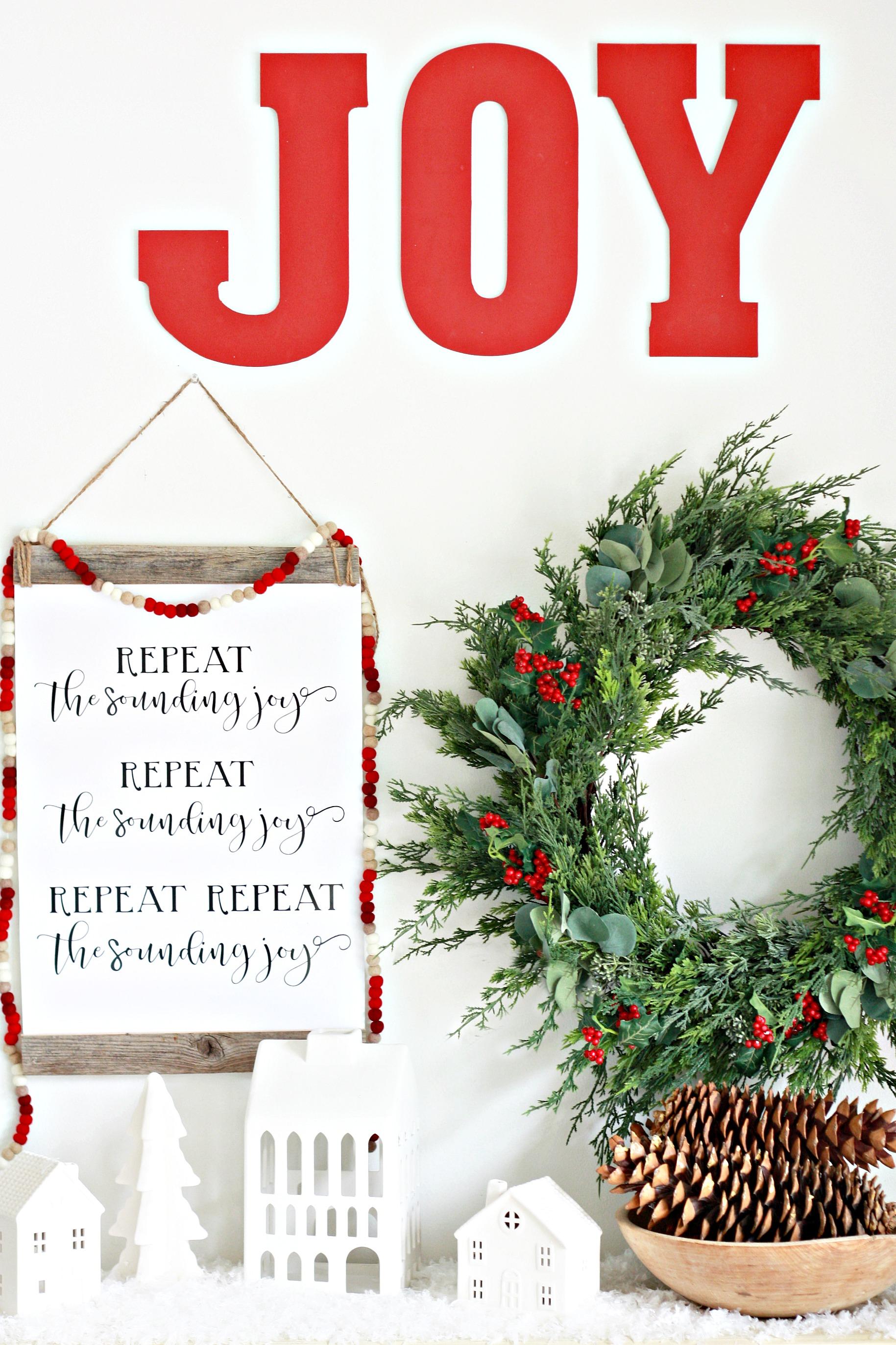 Repeat the Sounding Joy Christmas Printable
