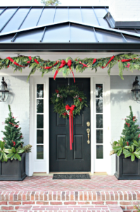 How to Decorate Christmas Window Boxes and Outdoor Garland