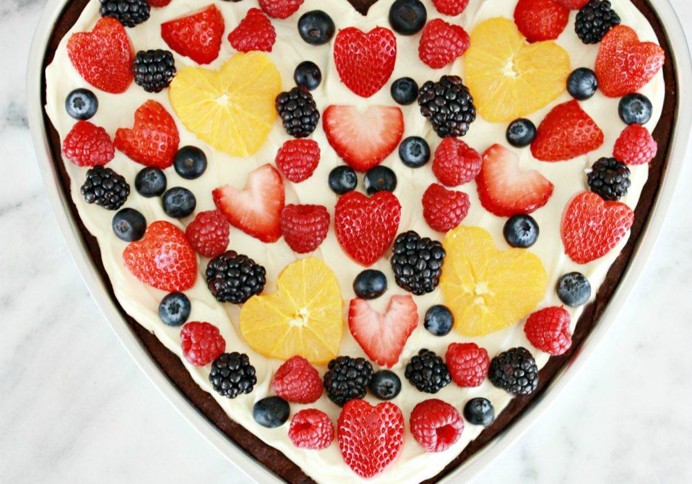 Fruit Pizza Valentine's Heart