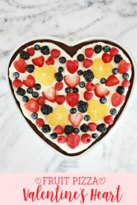 Fruit Pizza Valentine's Heart