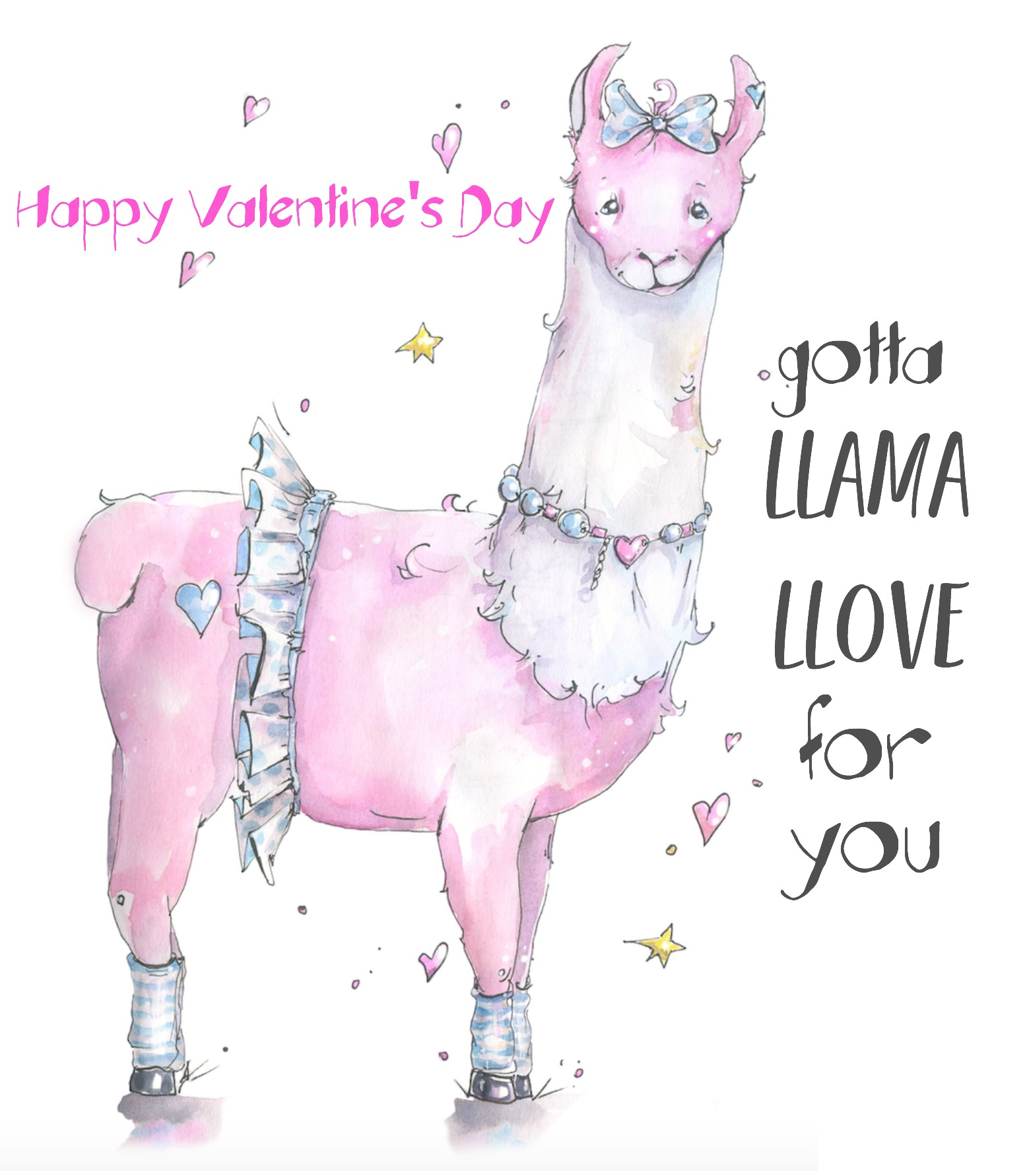 picture relating to Llama Printable called Llama Llove Valentine Card Printable
