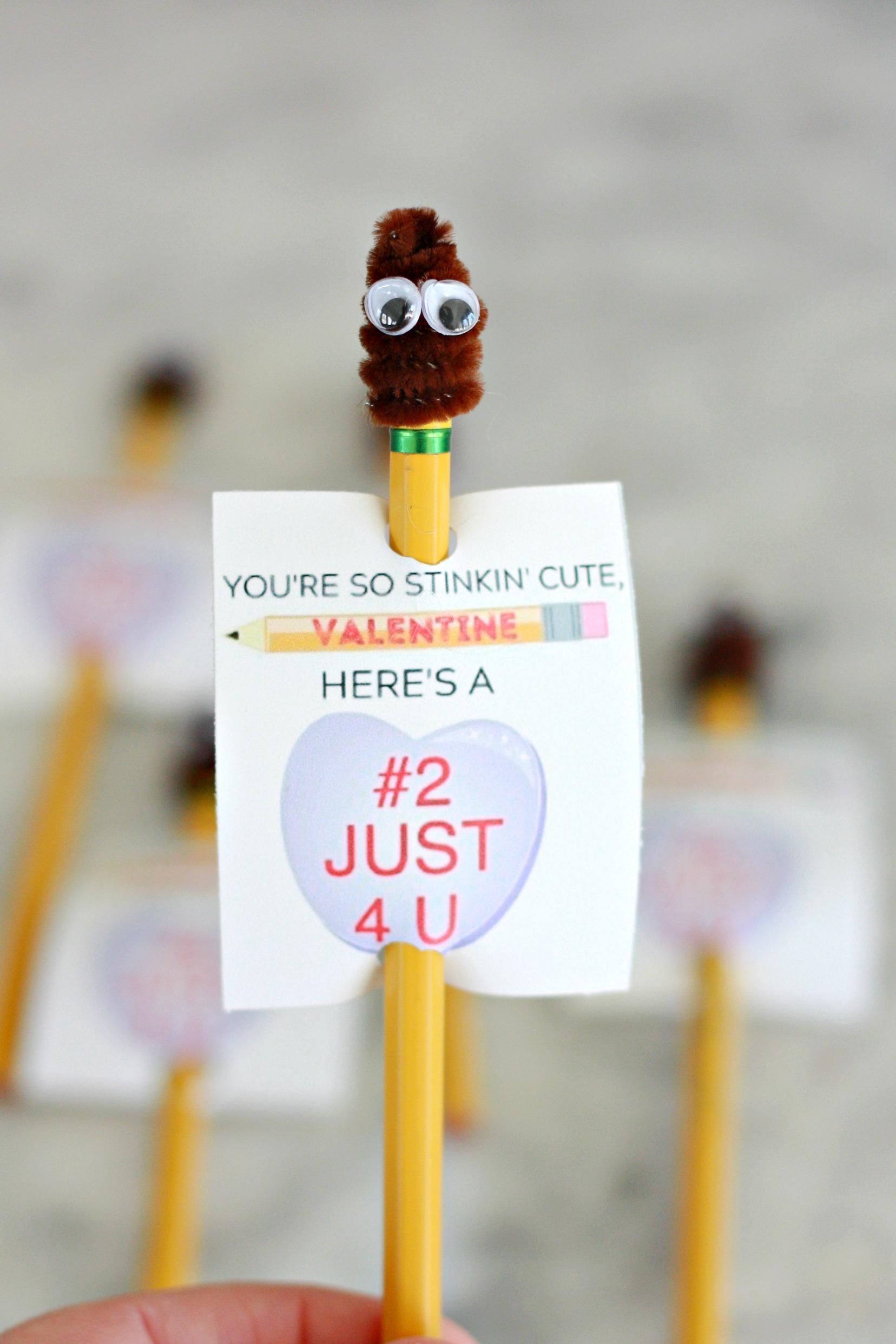 POOP Emoji Valentine Printable