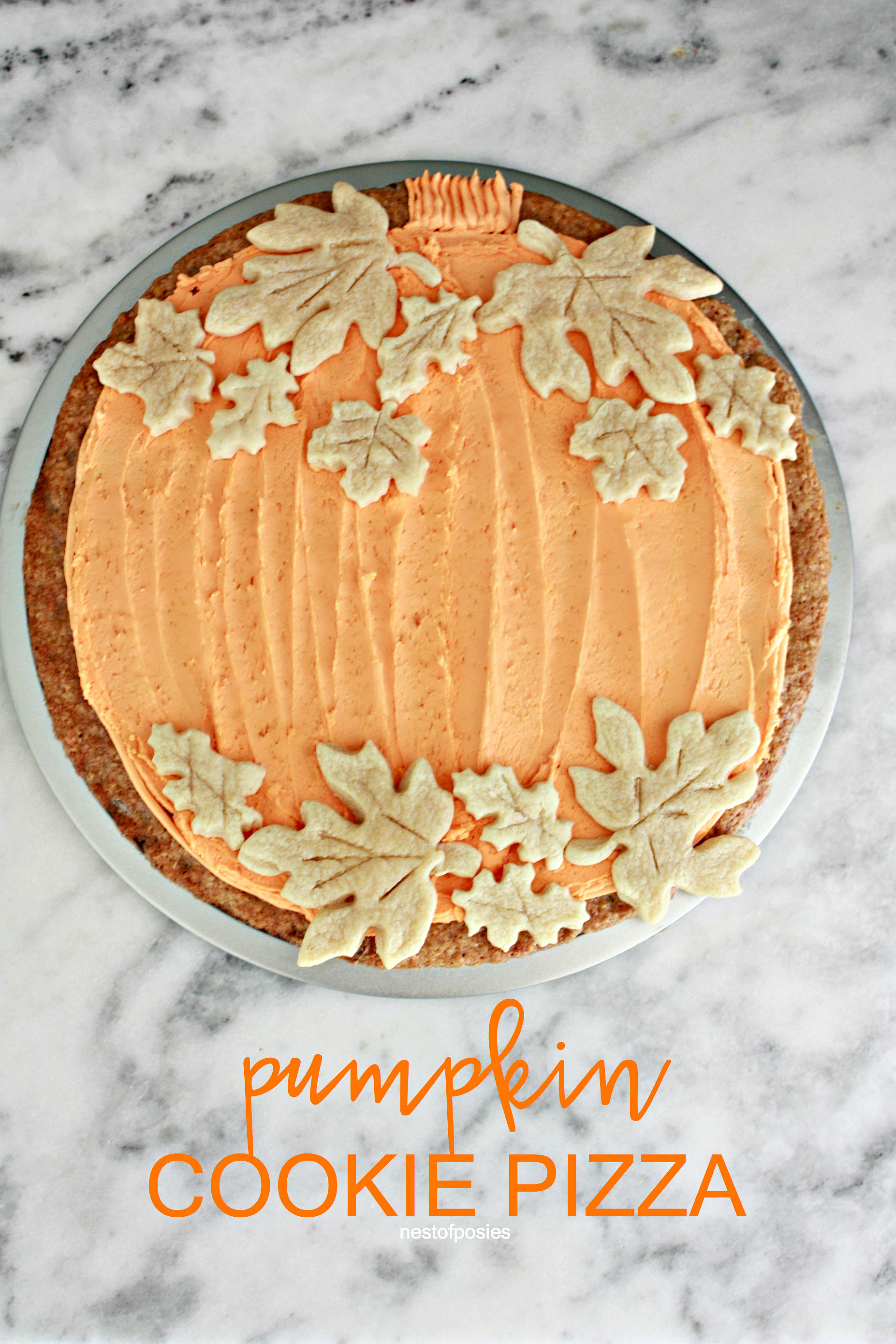 Pumpkin Pizza Cookie
