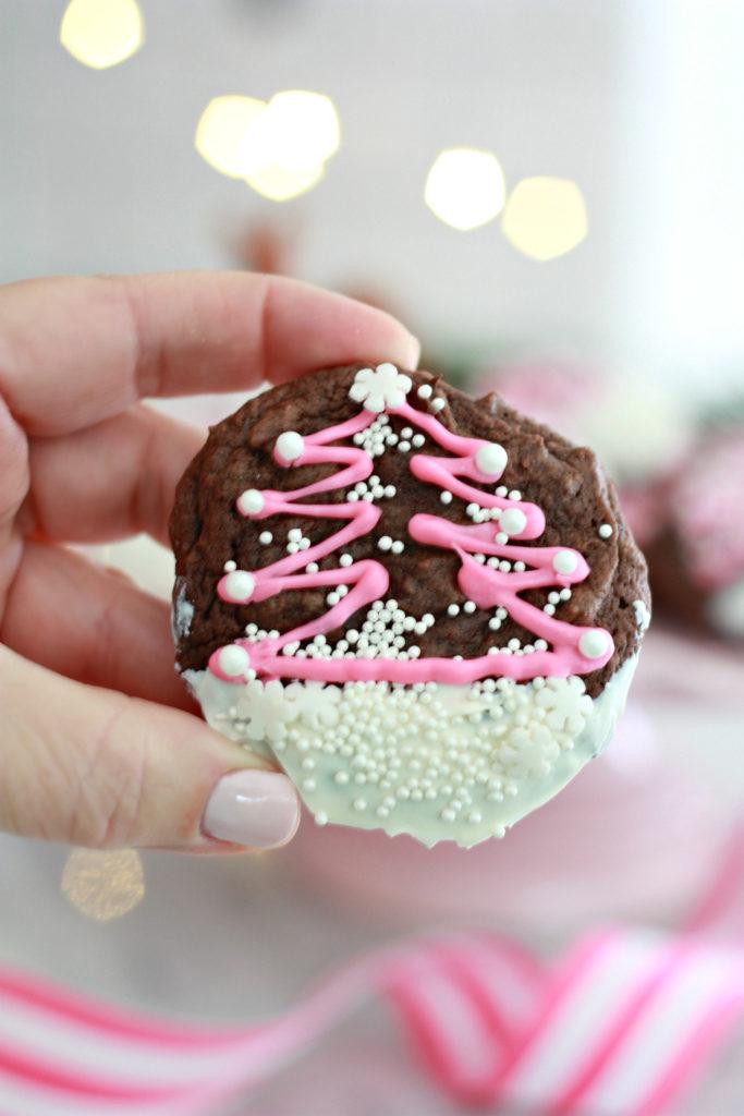 Double Chocolate Christmas Cookies Nest Of Posies